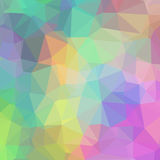 Delicate Colorful Geometric Background of Triangles. Colorful Pastel Triangles Theme Stock Photos