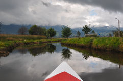 Delicate & colorful laguna la Cocha, Colombia Royalty Free Stock Photos
