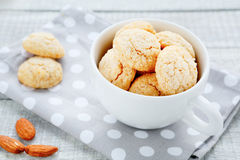 Delicate cookies with almonds and amaretto Royalty Free Stock Image