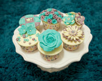 Delicate cupcakes Royalty Free Stock Photo