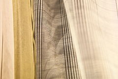 Delicate curtain fabric samples Royalty Free Stock Photography
