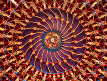 Delicate ceiling design/decoration in Chinese buil Royalty Free Stock Photos