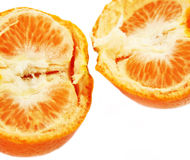 Delicate detail of opened orange fruit Stock Images