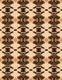 FOLIAGE SEPIA REPEAT PATTERN Stock Images