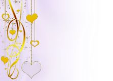 Delicate  elegant  background with hearts Stock Photography