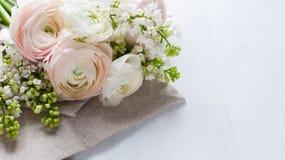 Delicate elegant bouquet of flowers stock images