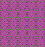 Delicate ellipses and diamond pattern violet purple green Stock Images