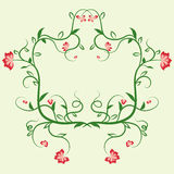 Delicate floral frame. Ornament for design templates greeting cards and invitations. Royalty Free Stock Photo