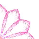 Delicate floral frame. Vector pink vintage Royalty Free Stock Image