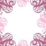 Delicate floral frame. Vector violet vintage Stock Image