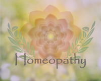 Delicate floral Homeopathy design Stock Photo