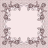 Delicate floral lace dark frame. Royalty Free Stock Photo