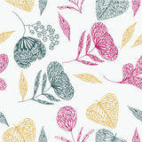 Delicate Floral And Leaf Design Royalty Free Stock Image