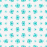 Delicate floral seamless background with blue flowers. Vector illustration Royalty Free Stock Photos