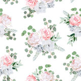 Delicate floral seamless vector pattern Royalty Free Stock Image