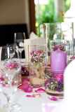 Delicate floral table centrepiece Stock Photography