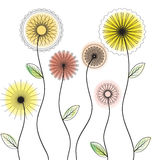 Delicate floral vector background Stock Photography