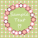 Delicate flower border. Delicate pink flower border with text Stock Photo