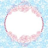 Delicate flower border Royalty Free Stock Image