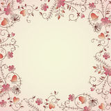 Delicate flower border. Delicate  flower frame for text Royalty Free Stock Photography