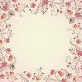 Delicate flower border. Delicate flower frame for text Stock Illustration