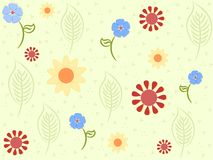 Delicate flowers pattern Stock Images