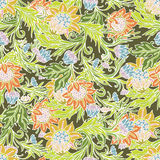 Delicate flowers seamless pattern Stock Photography