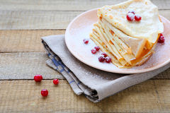 Delicate fragrant crepes Royalty Free Stock Photos
