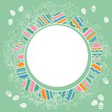 Delicate frame with easter eggs Stock Image