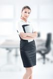 Delicate girl in the office Royalty Free Stock Image