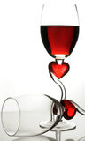 Delicate glass of wine Stock Images