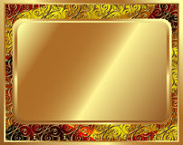 Delicate gold frame with pattern 2 Stock Photo