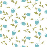Delicate  graphic print Small floral pattern Stock Image