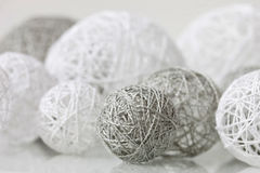 Delicate handmade balls for decoration Royalty Free Stock Photography