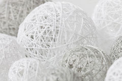Delicate handmade balls for decoration Royalty Free Stock Image