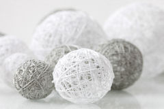 Delicate handmade balls for decoration Stock Images