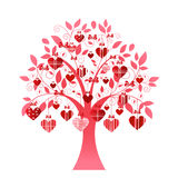 Delicate heart tree. With hears and coil branches Royalty Free Stock Photography