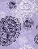 Delicate Henna Paisley Seamless Repeat Pattern Royalty Free Stock Photos