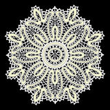 Delicate lace doily pattern Stock Image