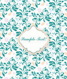 Delicate lace pattern background for Wedding or Anniversary Invitation Stock Photo