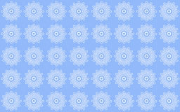 Delicate lace pattern. In white on a blue background Stock Photos