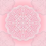 Delicate lace seamless pattern Stock Photo
