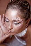 Delicate make-up Royalty Free Stock Photo