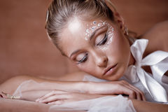 Delicate make-up Royalty Free Stock Photos