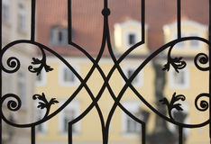Delicate metal fence Royalty Free Stock Image