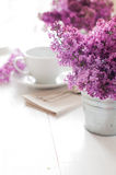 Delicate morning tea table setting Royalty Free Stock Photography