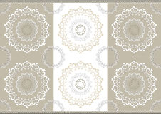 Delicate openwork circles on border seamless backg Royalty Free Stock Image