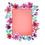 Delicate pale color floral illustration Royalty Free Stock Photography