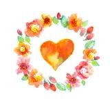 Delicate pale color floral illustration Stock Image