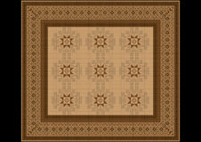The delicate pattern of the carpet in brown shades Stock Photos